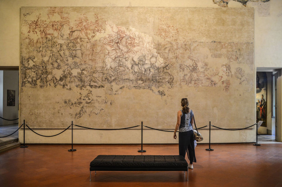 Architecture Casual Clothing Indoors  Italia Italy Lifestyles Mantova Museo Museum One Person Palazzo Ducale, Mantova Real People Rear View Sinopia Women