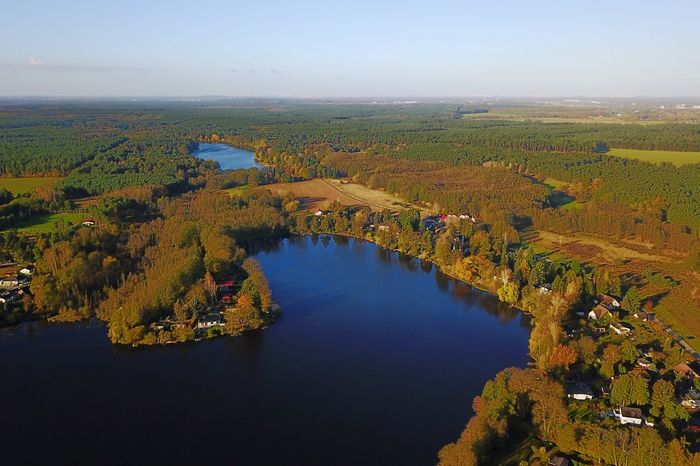 Rehfelde Grünheide Lake Aerial View Beauty In Nature Tranquil Scene Nature Tranquility Scenics Water No People Landscape Outdoors Tree High Angle View Day Sky