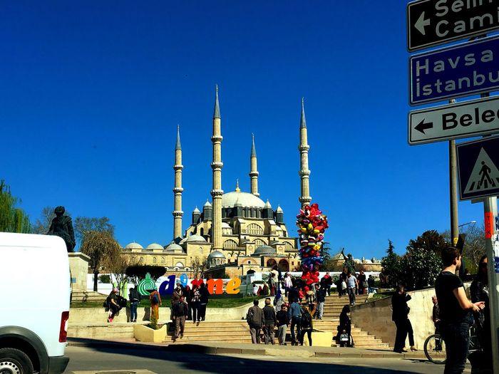 Tourism Selimiye Mosque çokgüzelsinedirne Günaydın...Goodmorning Cami Blue Real People People