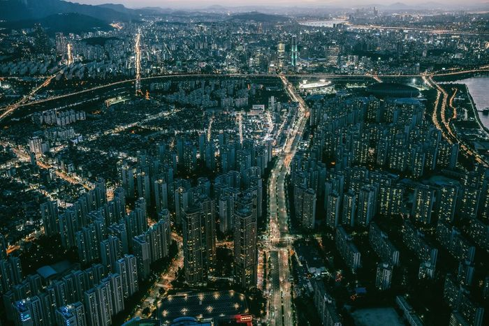 When the night falls on Gangnam 🏙 Cityscape Aerial View City Architecture Skyscraper No People Built Structure Travel Destinations Building Exterior Mountain Illuminated Modern Urban Skyline Seoul Korea Gangnam Style Gangnam Lotteworld Tower View From Above City Life Lost In The Landscape Urban Landscape Illuminated City The Week On EyeEm
