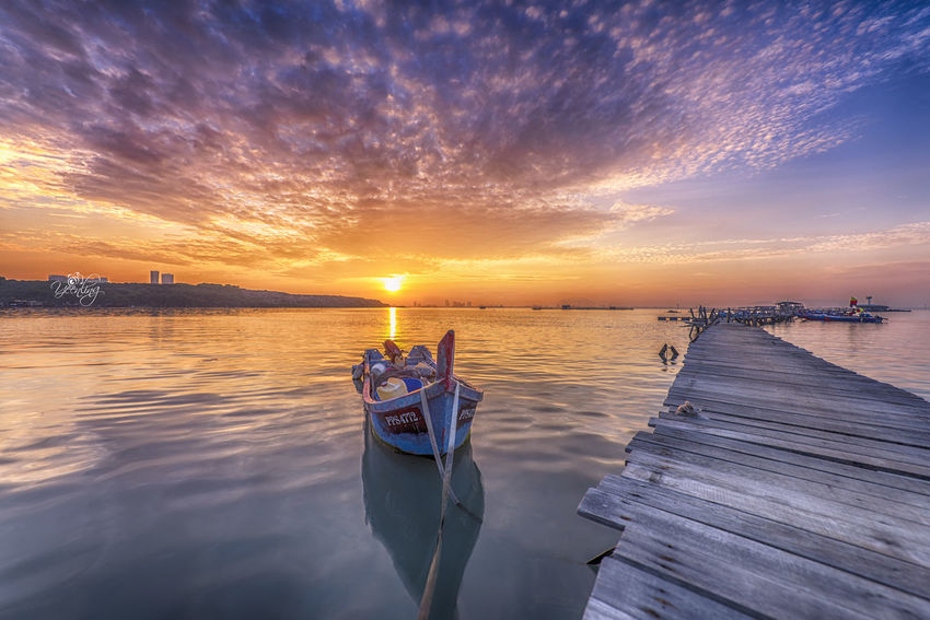 sunrise over Dove Jetty, Penang Adventure ASIA Cloud - Sky Day Break Dove Jetty Fishing Villaage Jetty Landscape Landscape Photography M Malaysia Morning Morning Light Morning Sun Ocean View Penang Penang Island Penang Malaysia Surnise