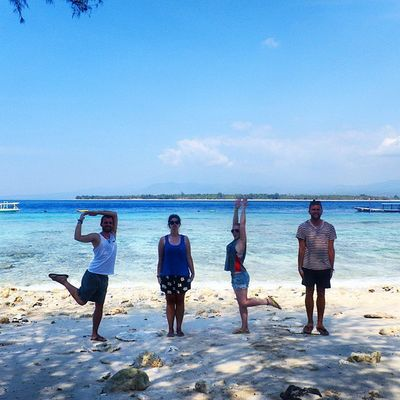 Life's a Beach on the Gili Islands Islandhopping Gilimeno Rtw Travelling Indonesia Pose HumanAlphabet