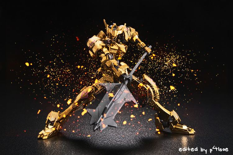 Gold Barbatos Gundam edited by P4lsoe