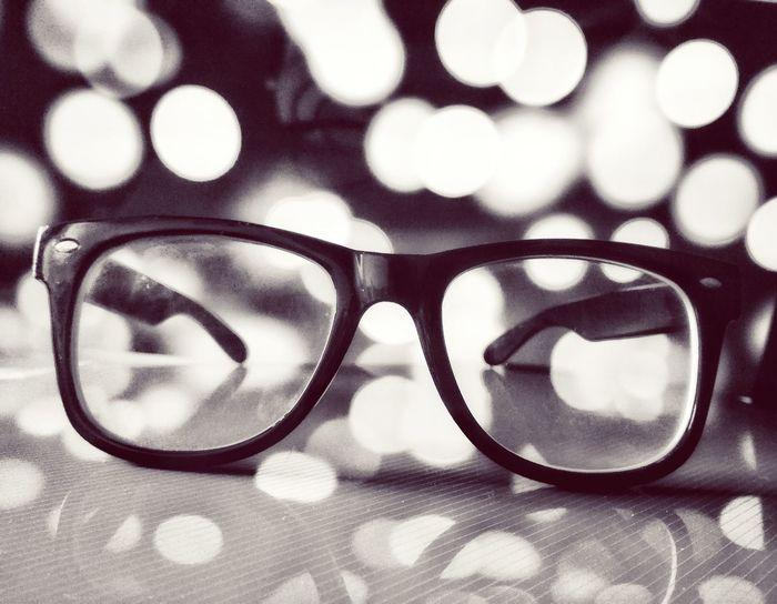Close-up Eyeglasses  Bokeh Photography Black & White