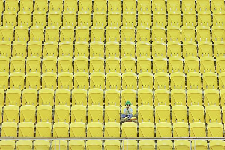 • Minion Yellow • Yellow Minimalism Minimal Open Edit Isolated Seats EyeEm Best Shots Eye4photography  The EyeEm Facebook Cover Challenge Child Boy Paint The Town Yellow