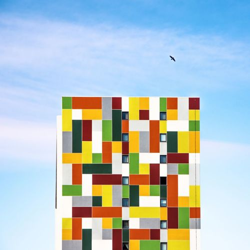 Multi Colored #building Sky Multi Colored Cloud - Sky Day Bird No People Outdoors The Graphic City Colour Your Horizn My Best Photo The Minimalist - 2019 EyeEm Awards