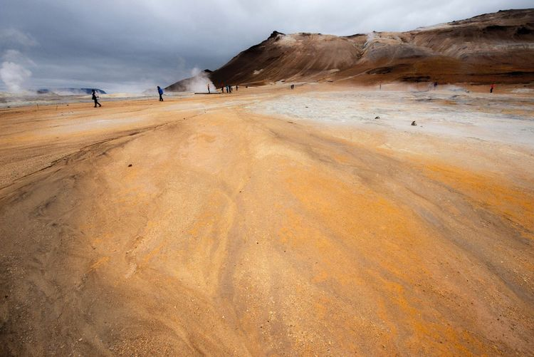 Mountain Landscape Scenics Beauty In Nature Nature Outdoors No Filters  Traveling Scenery Shots Travel Photography Wide Angle Earth_Collections Panorama Hiking Iceland Iceland_collection Myvatn Great Atmosphere Sand And Stone Steam Hotwatersprings