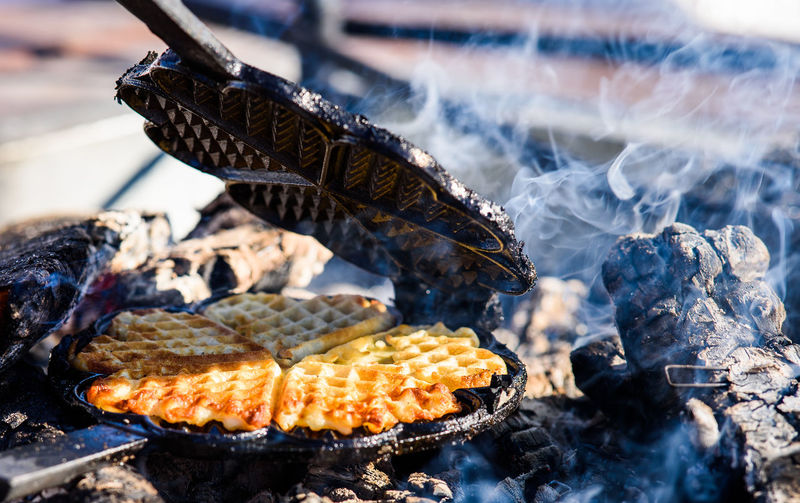 Animal Barbecue Barbecue Grill Burning Close-up Corn Day Focus On Foreground Food Food And Drink Freshness Grilled Healthy Eating Heat - Temperature Nature No People Outdoors Preparation  Sunlight Wellbeing