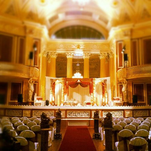St George's Hall Liverpool Wedding Mandap Asian  .