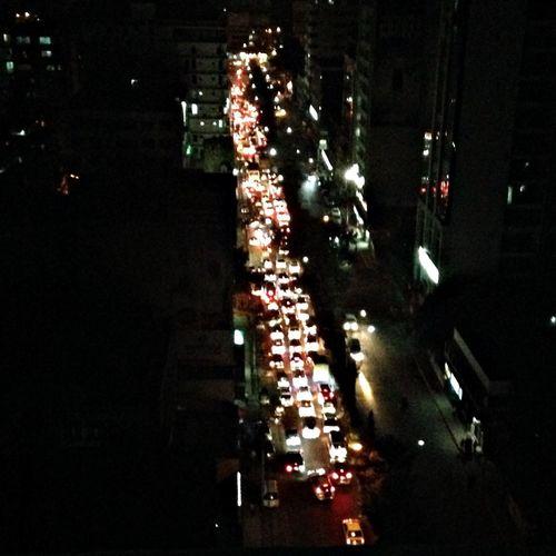 Trafficjam after 6 days of strike!