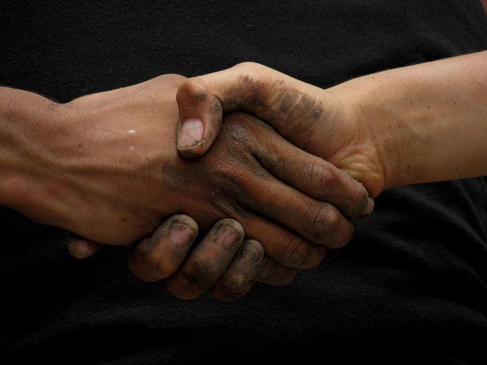 Close-Up Of Handshake