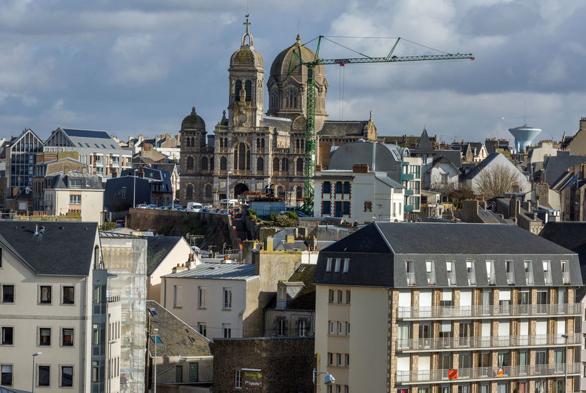 France Normandie Architecture Building Exterior Built Structure City Cityscape Cloud - Sky Day Dome No People Outdoors Place Of Worship Religion Residential Building Sky Spirituality Town Travel Destinations