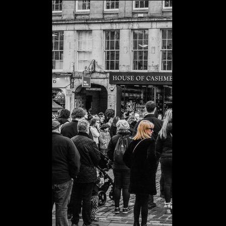 Streetphotography Street Street Performer People People Watching City Cityscape City Life Performance Monochrome Blackandwhite Colours Edinburgh Scotland Nikon Nikonphotography D750 City Men Women Full Length Group Of People Street Architecture Building Exterior Built Structure Urban Scene Crowded Street Scene City Street