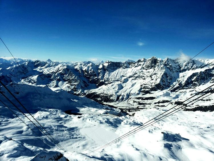 Montana Mountains Sci Sky Snow Neve Cervinia Inverno❄❄❄ Winter Paesaggio