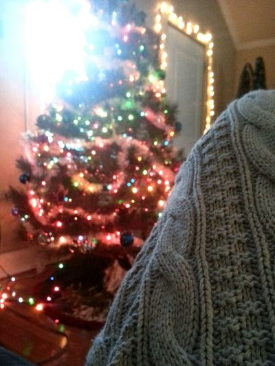 Close-up Illuminated Focus On Foreground Red Leisure Activity Tree Culture Indoors  Green Blanket Blankets Blank Knit Holiday Christmas Tree Christmas Lights Christmastime Christmas Decorations Christmas Is Coming Christmas Eve Christmas Warm Snapshot Snuggle