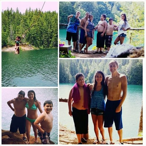 Today was perfect with these guys!! (: Family Sunny Lakecushman Skokomishpark viewpoint lovethem favorites growingup ropeswing