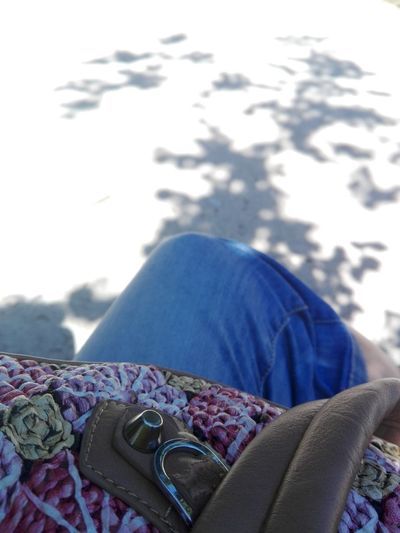 Summer Hanging Out Taking Photos That's Me Shadows & Lights Bag Jeans Flower