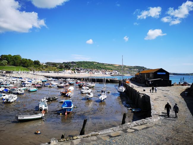 Lyme Regis Water Nautical Vessel Sea Beach Sand Summer Sky Cloud - Sky