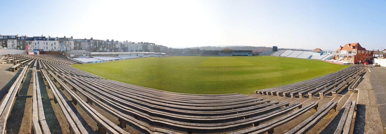 Scarborough Cricket Stadium Stadium Stadium Seating Cricket Field Cricket Lover City Clear Sky Working Sky