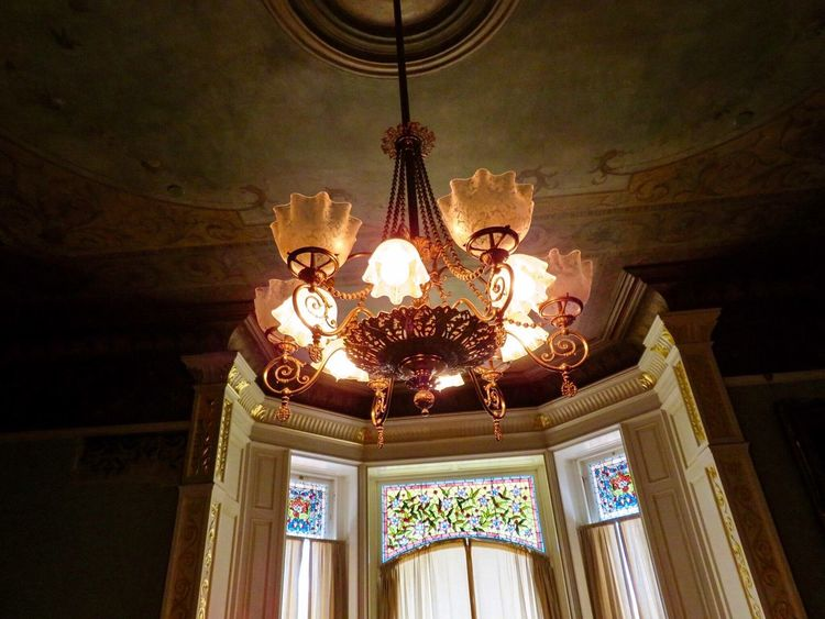 Castle chandelier 33 Old Fashioned. Vintage Style Beautiful Architecture Chandelier Castle No People Indoors  Stained Glass Windows