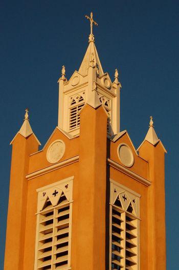 San Felipe De Neri Albuquerque Old Church Built Structure Architecture Building Exterior Sky Place Of Worship Religion Building Belief Tower Spirituality No People Spire