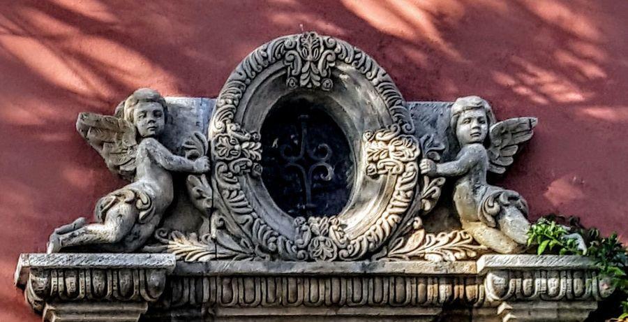 Doorway Astrology Sign Sky Mythology Bas Relief Gargoyle