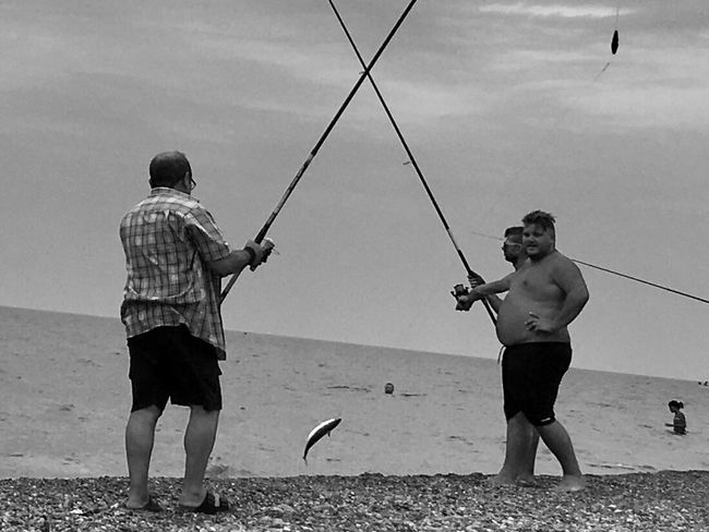 Fishing Italy Southitaly Calabria (Italy) Sea Beach Man Two People Manatwork Freshfood Fish Fisherman Fisher Fishermen's Life