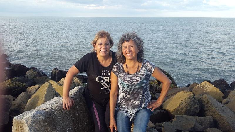 Mama Tia Aunt  Mom Momentos Inolvidables Outdoors Sea Beach Loveyousomuch