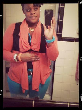 Orange Turquoise Black N Gold