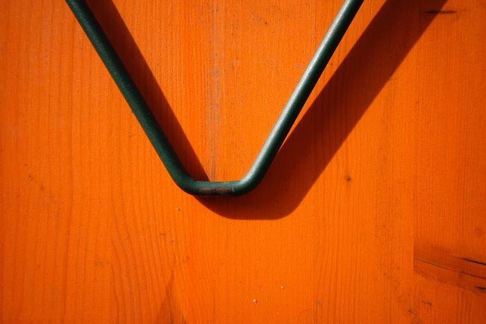 Closeup Folding Table Orange Color Full Frame No People Day Backgrounds Close-up Outdoors
