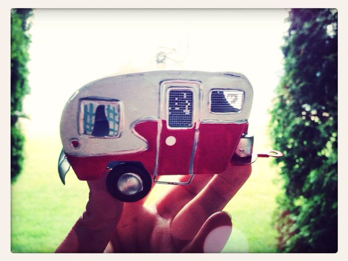 Found the perfect trailer while on holiday. Vintage Enjoying Life IPhone Vacation