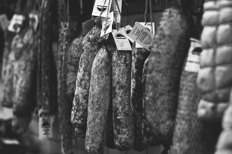 A small Salumeria in Toscana, Italy. Hanging Salami Food Food Photography Salumeria Italian Food Exceptional Photographs EyeEm Best Shots Eye4photography  EyeEm Gallery Blackandwhite Blackandwhite Photography Food Shop Tuscan Food Toscana Bestoftheday Travel Destinations Malephotographerofthemonth Tuscany Italy Travel Photography Travel Siena