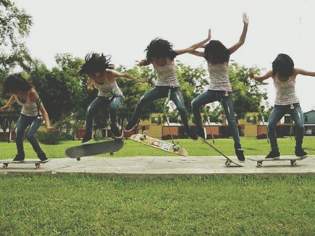 Skate Skater Girl Girl Kickflip