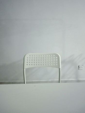 White Background White Color White Chair The Shadows Minimalist Indoors