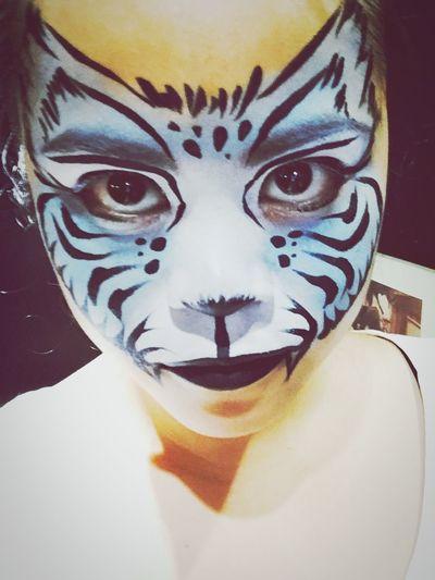 Facepaint Facepainting Pintacaritas Tiger Tigre Animal Animalmakeup Makeup Make It Yourself Make-up