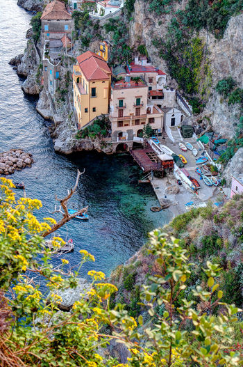 Day Architecture High Angle View Built Structure Water Nature Landscape Travel Destinations Italy EyeEmNewHere Vacations Amalficoast Scenics Sea Clear Sky Beach Conca Dei Marini Vacanzeitaliane Reflection Multi Colored