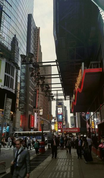 42 Street Ilovenyc Walking Around The City  Manhattan Awesomness Dusk Bright Lights Times Square NYC Newyorkcity Neon Sign