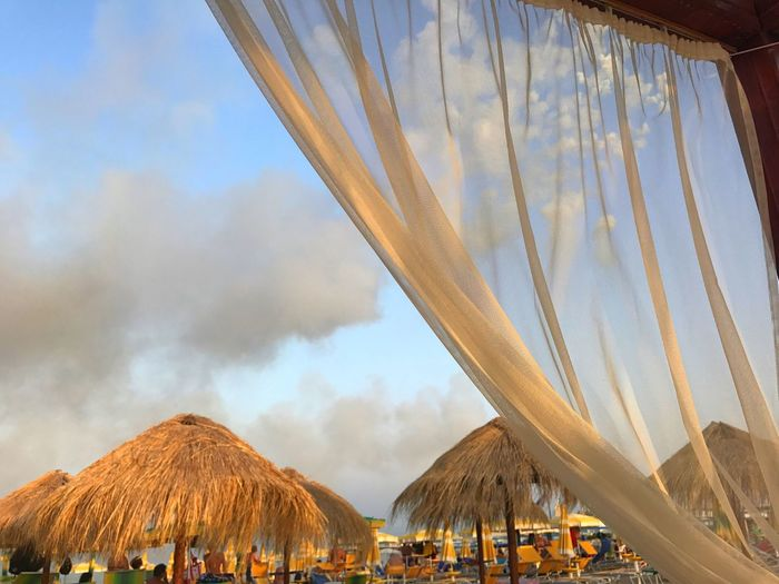 EyeEm Selects Thatched Roof Vacations Canopy Outdoors Day Shelter Nature Beach Beauty In Nature Summer Sky No People