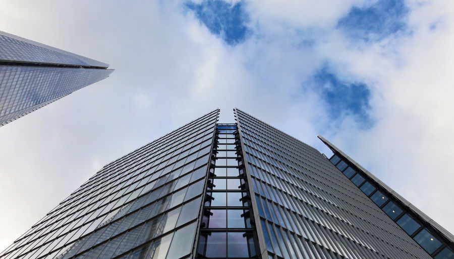 architecture looking up Angles Architecture Architecture Blue Sky Blue Sky And Clouds Building Exterior Built Structure Day Design EyeEm Best Shots - Architecture Glass Impact Modern Architecture No People Outdoors Residential Structure Sky The Architect - 2015 EyeEm Awards