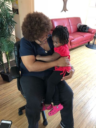 Nana (my mom is now a Great-Grandmother) comforting her great-granddaughter. Generations Photo Love Greatgranddaughter Greatgrandma Togetherness Child Women Childhood Family