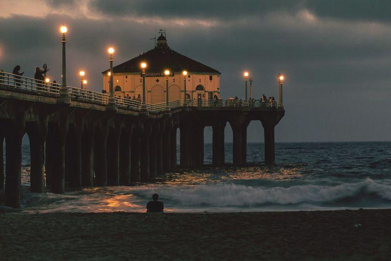 Manhattan Beach Pier Beachphotography Storm California Love