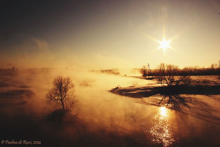 Winter Wintertime Lake Frost Nature Russian Nature Sun Sunrise