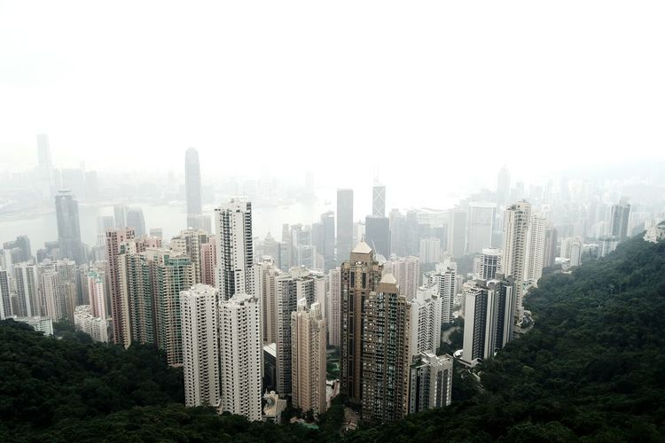 High Angle View Of Tall Buildings