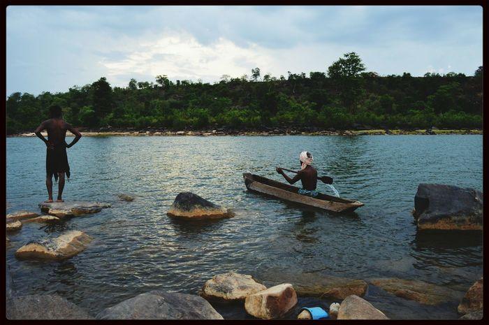 Watetfall India Fisherman Water Reflections