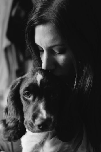 MyLoves Myfamily Wifey♡ Puppy Blackandwhite Photography Check This Out Hello World Beautyineverything NikonD5500 Beautiful Beginnerphotographer This Week On Eyeem Nikkor 40mm Micro EyeEm Best Shots - Black + White Blackandwhite Springer Spaniel Love Soulmate Taking Photos