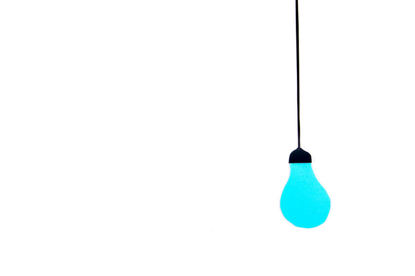 Light bulb Bright Copy Space Light Light It Up Blue Suggestion Thinking Autism Awareness Bulb Campaign Cognitive Creative Day Hanging Idea Inspiration Light Bulb Lightitupblue No People Studio Shot White Background