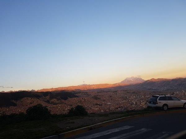 La Paz, Bolivia City Bolivia Beauty Day Old City Streets No People Piece In The Air Affternoon Sky Montains And City Illimani