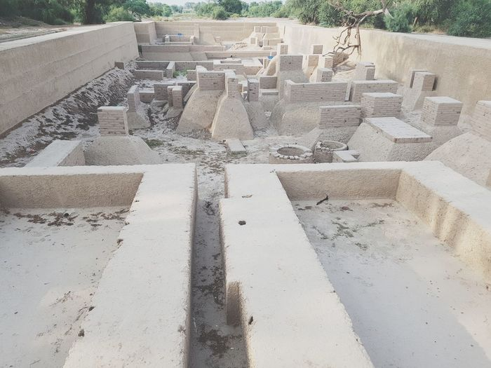 High Angle View Outdoors No People Historical Place Harapa 5000BC Very Old City In The World