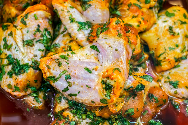 spiced chicken pieces prepared for barbecue Chicken EyeEmNewHere Fresh Produce Prepared Barbecue Close-up Dairy Product Food Food And Drink Freshness Garnish Healthy Eating Herb High Angle View Indoors  Indulgence Meat Meet No People Omelet Pieces Plate Ready-to-eat Selective Focus Serving Size Snack Spiced Still Life Temptation Vegetable Wellbeing