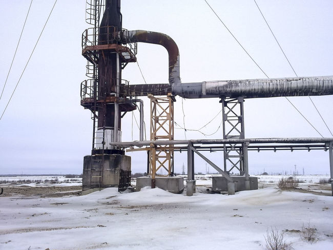 Oil Oil Pump Gas Gasprom Rosneft Refinery Industry Snow Winter Cold Temperature Sky Nature Field Land Day Connection No People Covering Built Structure Environment Cable Outdoors Technology Architecture Frozen Electricity  Power Supply